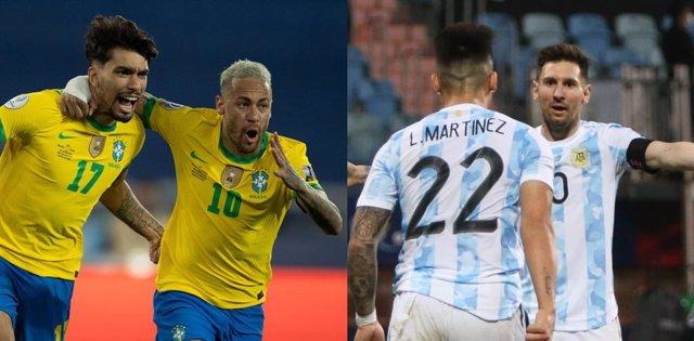 Archivo - Brasil y Argentina se enfrentarán en la final de la Copa América