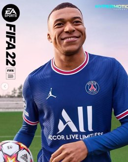 Portada del videojuego FIFA 22 con Kylian Mbappé