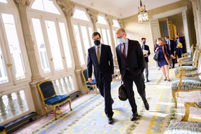 El secretario de Estado para la Unión Europea, Juan González-Barba, ha abordado con su homólogo danés, Carsten Gronbech-Jensen.