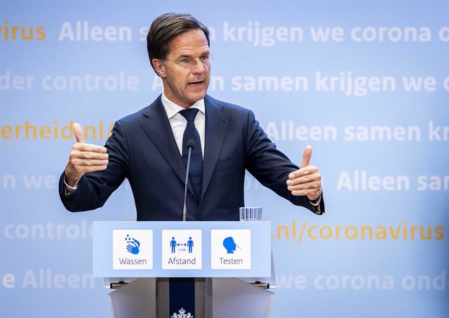 18 June 2021, Netherlands, The Hague: Dutch Prime Minister Mark Rutte speaks during  a press conference. The Netherlands is lifting nearly all of its coronavirus measures starting 26 June. Photo: Remko De Waal/ANP/dpa