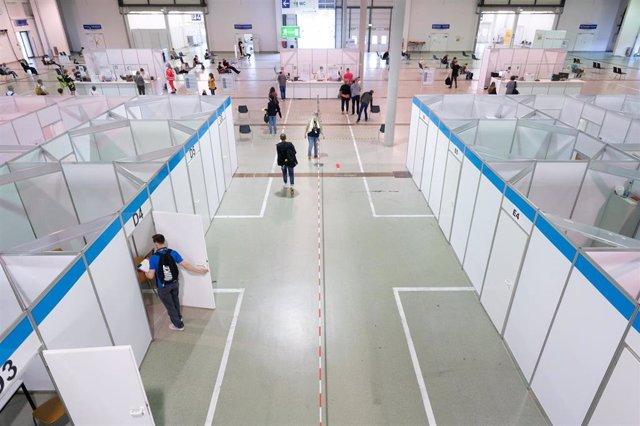 Centro de vacunación contra el coronavirus en Alemania