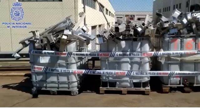 Detenidos seis jóvenes por robar más de tres toneladas de aluminio en una chatarrería del Arrabal.