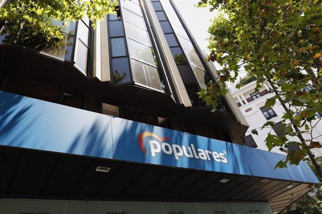 Archivo - Edificio de la sede del PP, situado en la calle Génova, en Madrid (España), a 24 de julio de 2020.