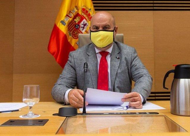 Archivo - El presidente de CERMI, Luis Cayo Pérez Bueno, en una comparecencia en el Congreso