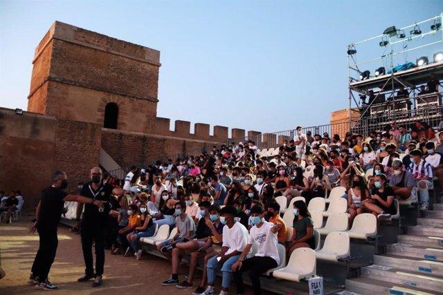 Concierto celebrado junto a las murallas del Castillo de Alcalá de Guadaíra
