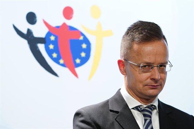 Archivo - El ministro de Exteriores de Hungría, Peter Szijjarto