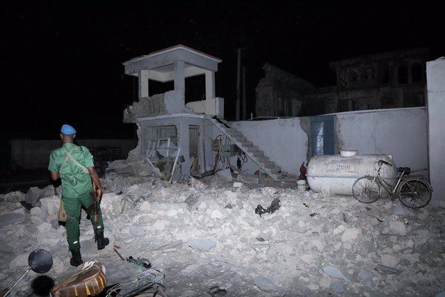 Archivo - Atentado de Al Shabaab contra el hotel Elite en Mogadiscio