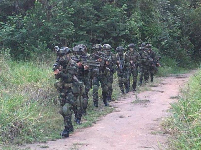 Archivo - Militares colombianos