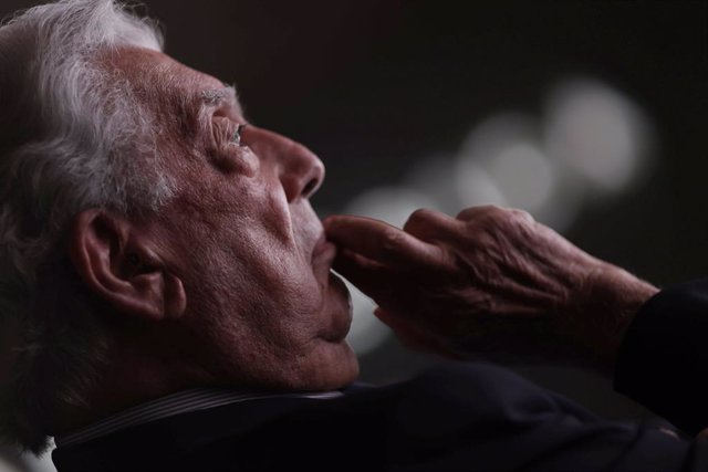 El presidente de la Fundación Internacional para la Libertad, Mario Vargas Llosa, durante la inauguración del XIV Foro Atlántico 'Iberoamérica: democracia y libertad en tiempos recios', a 9 de julio de 2021, en la Casa América, Madrid, (España). Organizad