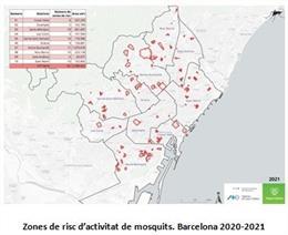 Zones de risc de mosquits en la qual l'Ajuntament àmplia la vigilància i control