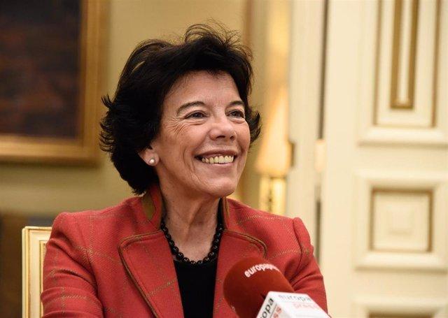 Archivo - Ministra de Educación y Formación Profesional, Isabel Celaá