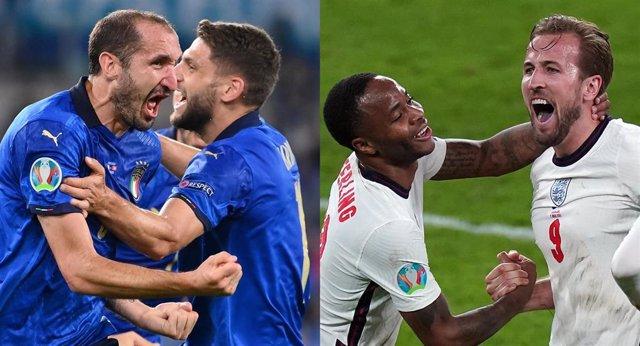 Archivo - Italia e Inglaterra se enfrentarán en la final de la Eurocopa en Wembley