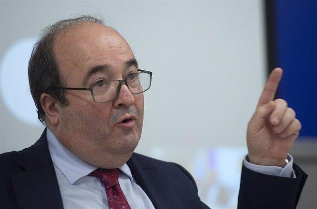 El futuro ministro de Cultura, Miquel Iceta