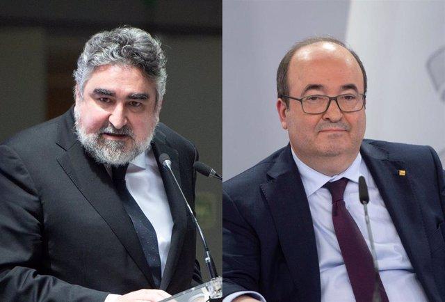 Archivo - José Manuel Rodríguez Uribes  y Miquel Iceta