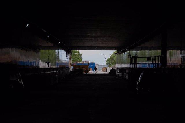 Archivo - Obras del túnel vial de Glòries, a 22 de abril de 2021, en Barcelona, Cataluña, (España).