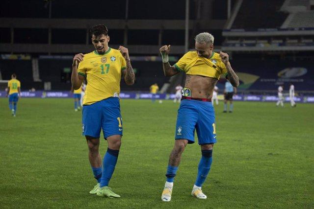 Lucas Paqueta y Neymar