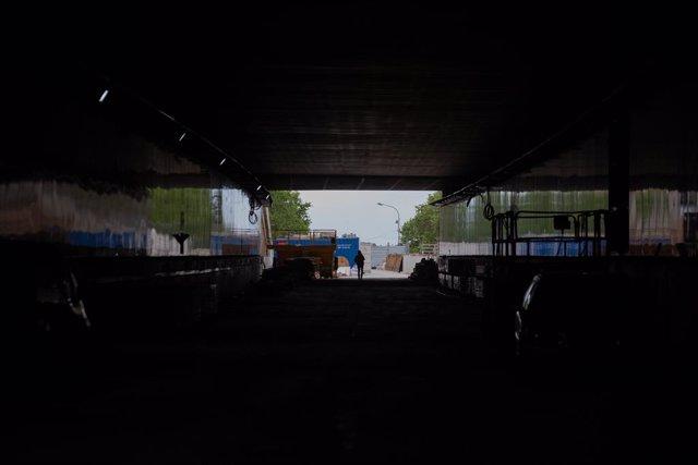Archivo - Arxivo - Obres del túnel vial de Glòries, a 22 d'abril de 2021, a Barcelona, Catalunya, (Espanya).