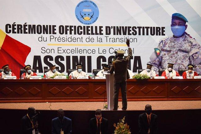 Archivo - El coronel Assimi Goita, presidente 'de facto' de Malí tras el golpe de Estado