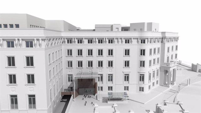 Simulación de la futura sede del Ministerio de Asuntos Exteriores en la plaza de Marqués de Salamanca