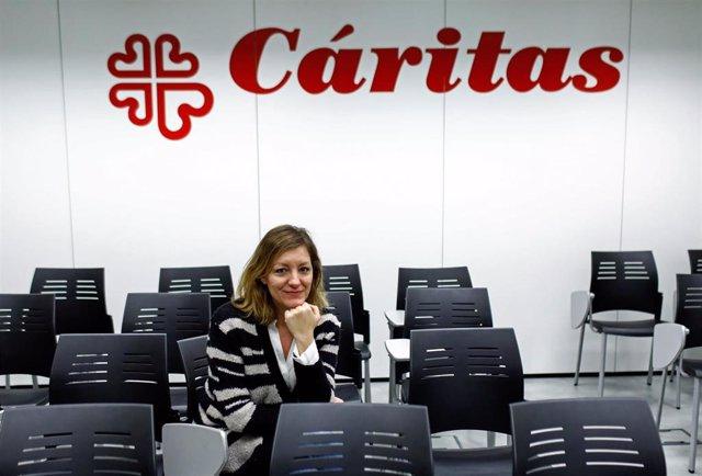 La secretaria general de Cáritas Española, Natalia Peiro.