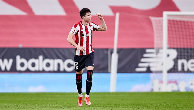 Archivo - Jon Morcillo of Athletic Club celebrates his goal with his teammates during the Spanish league, La Liga Santander, football match played between Athletic Club and CA Osasuna at San Mames stadium on May 08, 2021 in Bilbao, Spain.