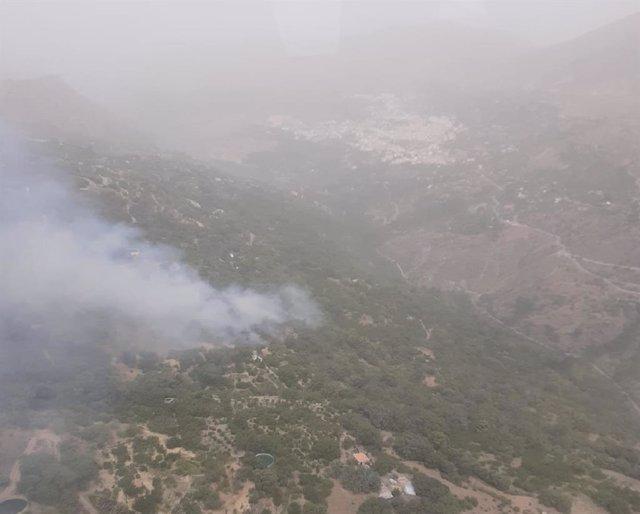 Incendio en Güéjar Sierra, en el paraje Río Maitena