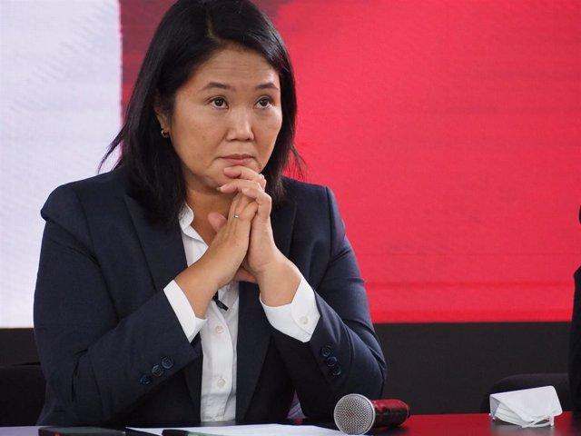 La candidata presidencial peruana Keiko Fujimori