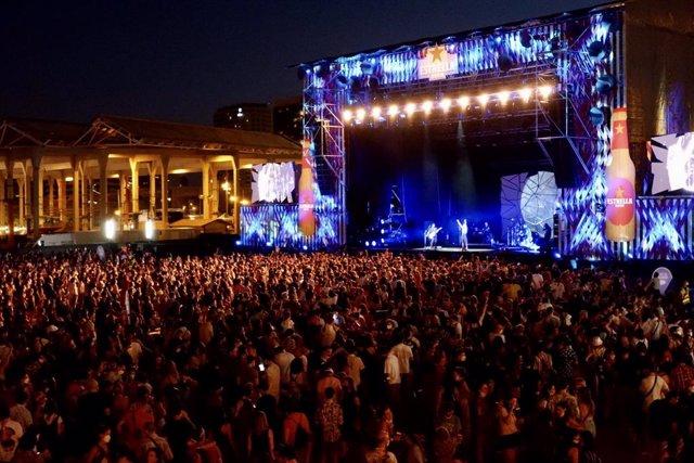 Imatge del segon dia del festival Cruïlla, que tanca una edició que ha acollit a més de 51.000 persones sense distància i amb test