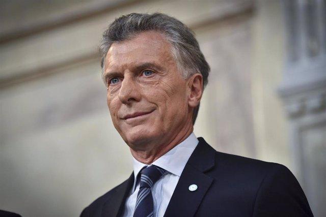 Archivo - El expresidente argentino Mauricio Macri