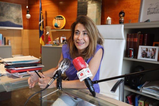 La nueva ministra de Transportes, Movilidad y Agenda Urbana, Raquel Sánchez Jiménez