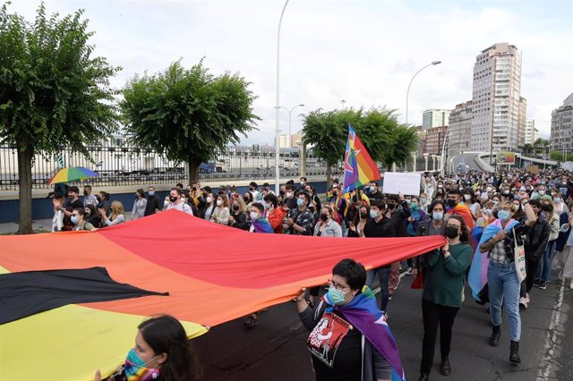 Concentración contra agresiones LGTBfóbicas y en defensa de Samuel en A Coruña