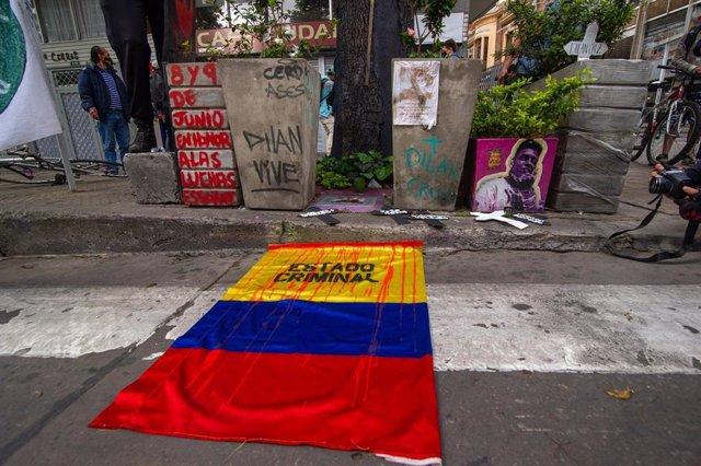 Archivo - Protesta contra las masacres en Colombia