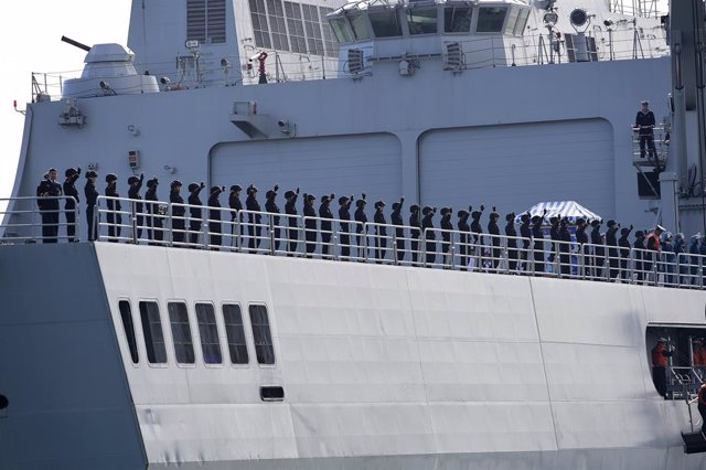 Archivo - Un barco de la Armada de China durante una parada en Australia