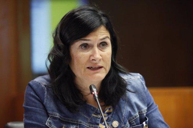 Archivo - La secretaria general de Chunta Aragonesista, Isabel Lasobras.