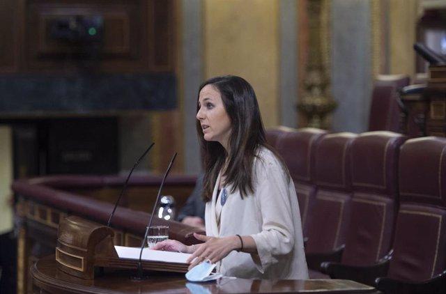 Archivo - La Ministra de Derechos Sociales y Agenda 2030, Ione Belarra. Foto de archivo.