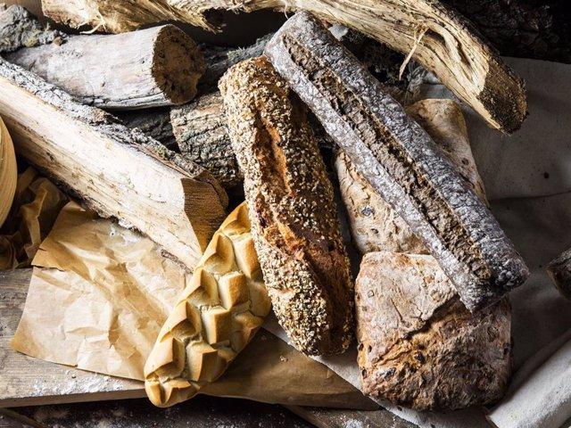 Distintos tipos de panes al estilo europeo de Levadura Madre Natural Bakery