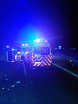 Imagen del lugar del accidente tomada y facilitada por personal de la Gerencia de Urgencias y Emergencias Sanitarias 061