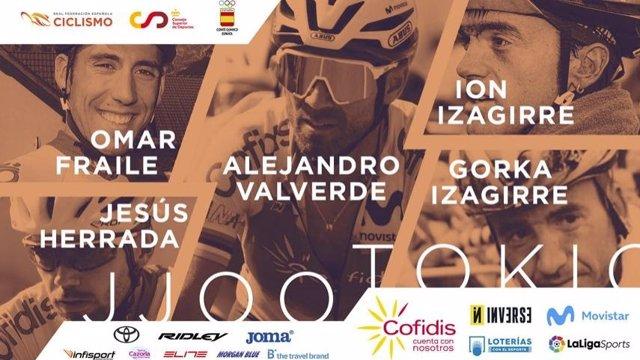 Valverde lidera el equipo olímpico español para los Juegos de Tokyo 2020.