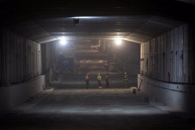 Archivo - Obra del túnel de carretera de Glòries, 22 de abril de 2021, en Barcelona, Cataluña, (España).