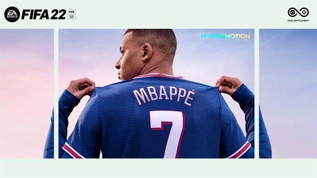El futbolista francés Kylian Mbappé, en la portada de FIFA 22.