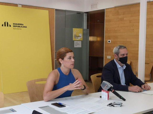 Els regidors d'ERC a l'Ajuntament de Barcelona Elisenda Alamany i Jordi Coronas