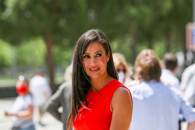 La vicealcaldesa de Madrid, Begoña Vilacís, durante el acto en el que el Ayuntamiento hace balance de los dos años de gobierno, a 15 de junio de 2021, en Madrid (España). El 15 de junio de 2019 tuvo lugar el acto de constitución de la Corporación Municipa