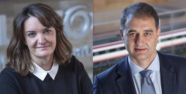 Cristina Andériz, directora del Centro Industrial de Santa Perpètua de Mogoda, en Barcelona y Miguel Ángel Martín, director del proyecto de trenes de Cercanías de Gran Capacidad para Renfe.