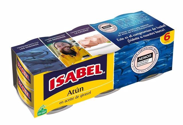 Atún con sello de atún sostenible de Isabel