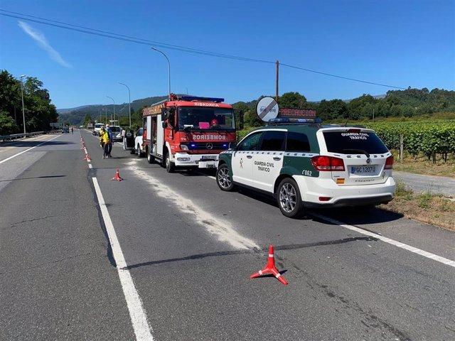 Accidente en Beade (Ourense).