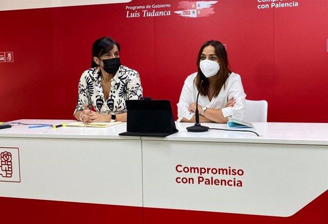 Ana Sánchez y Miriam Andrés comparecen en rueda de prensa tras la reunión con socialistas palentinos