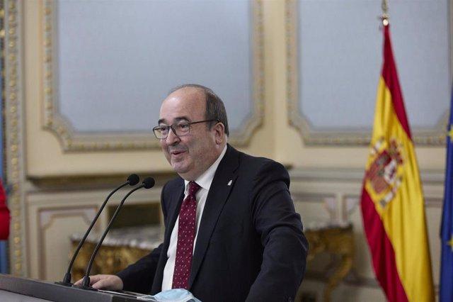 El ministro de Cultura y Deporte, Miquel Iceta