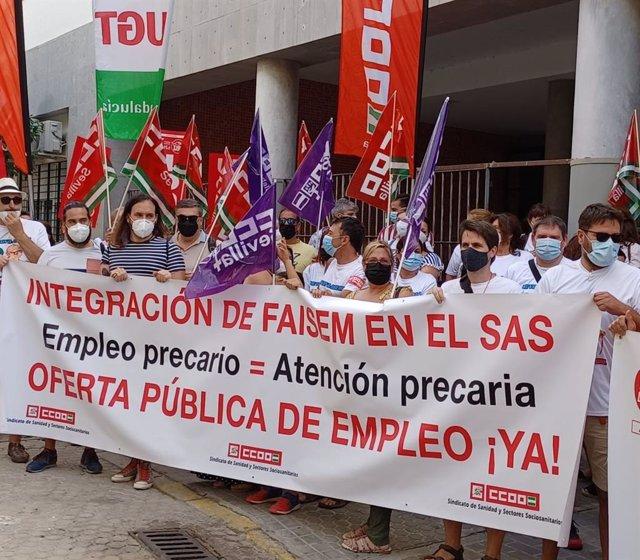 Concentración de los trabajadores de Faisem.