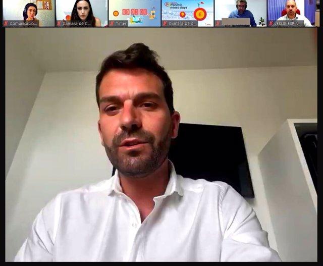 El diputado de Reto Demográfico, Álvaro Sánchez Cotrina, participa en Cáceres Invset Day, un evento telemático en el que uUna docena de startups han expuesto sus proyectos a inversores nacionales para instalarse en la provincia de Cáceres