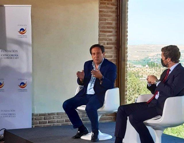 El presidente nacional de Asaja, Pedro Barato, en la segunda sesión de las Jornadas Reto Demográfico y despoblación rural